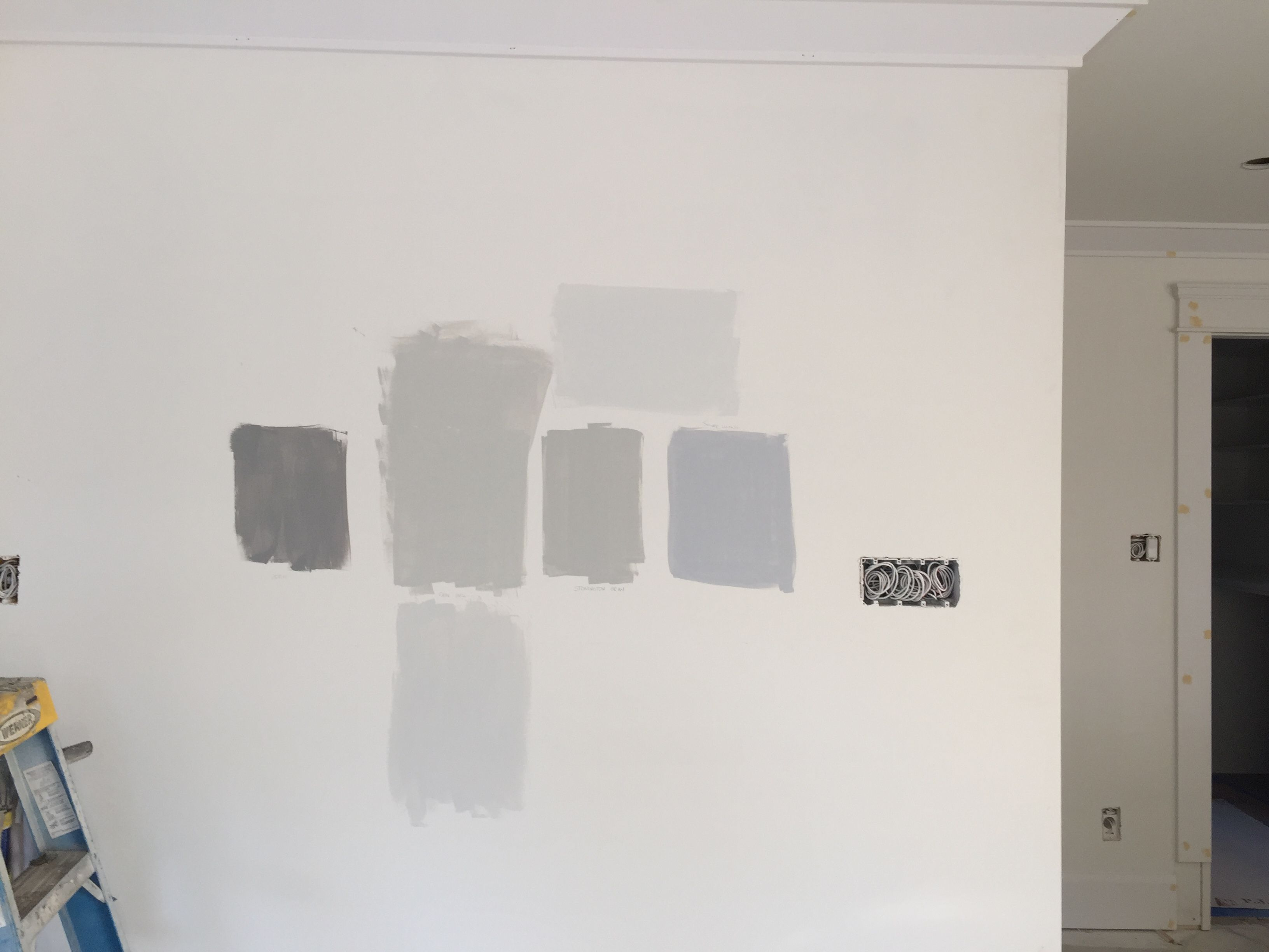 Paint Colors From Left To Right Storm Gray Owl Bottom Is 50 Lightened Stonington Gray True Grey Paint Color