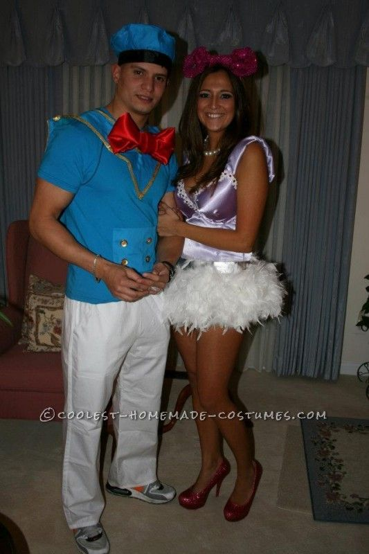 Coolest Disney\u0027s Donald and Daisy Couple Halloween Costume Couple - good couples halloween costume ideas
