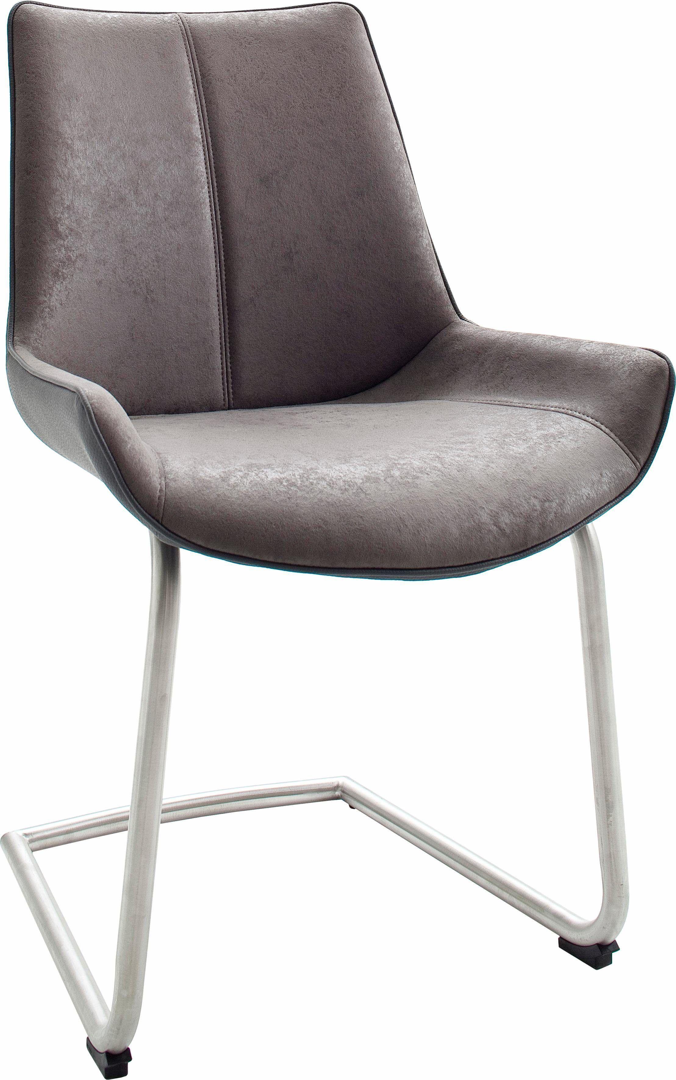 Stühle (2 Stück) Grau, Schwinger, Pflegeleichtes Kunstleder, Yourhome Jetzt  Bestellen Unter