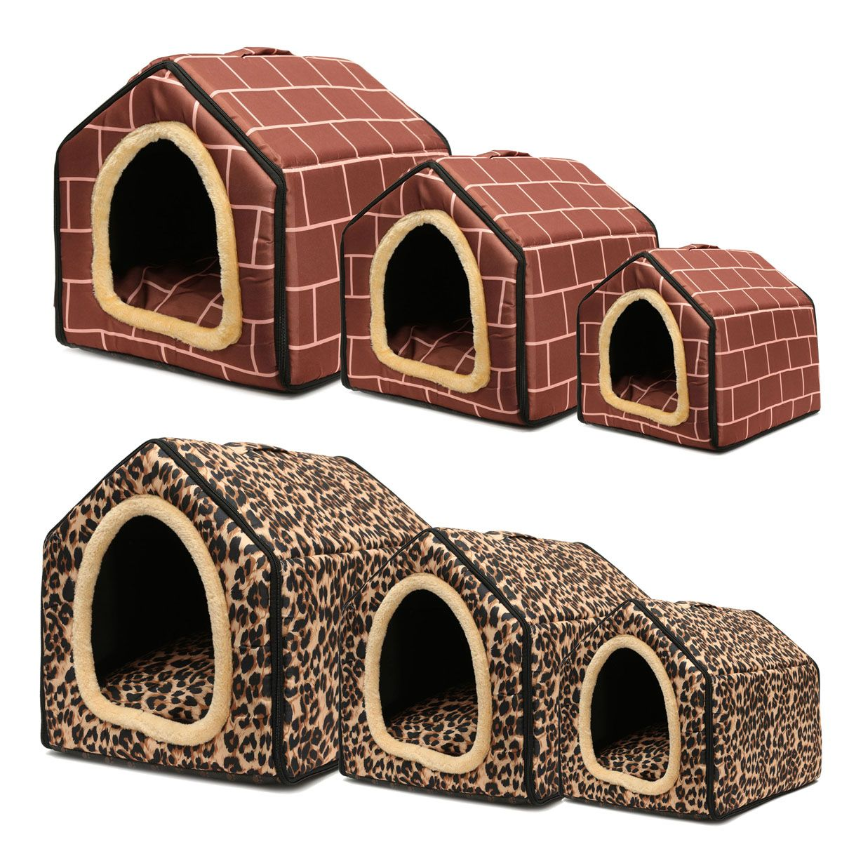 S M L Portable Pet Dog Cat Pig Bed Foldable Warm Nest Mat Pad Cat Dog Puppy Bed Indoor Hammock House