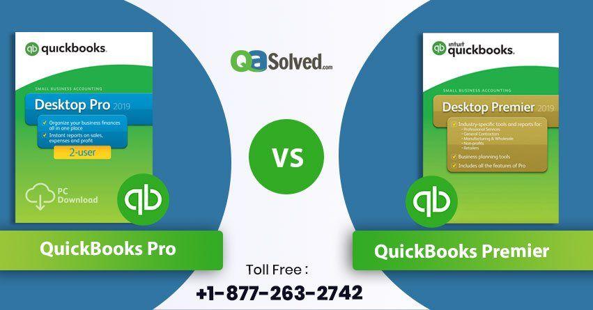 Quickbooks Pro Vs Premier A Complete Comparison Quickbooks Pro Quickbooks Quickbooks Online