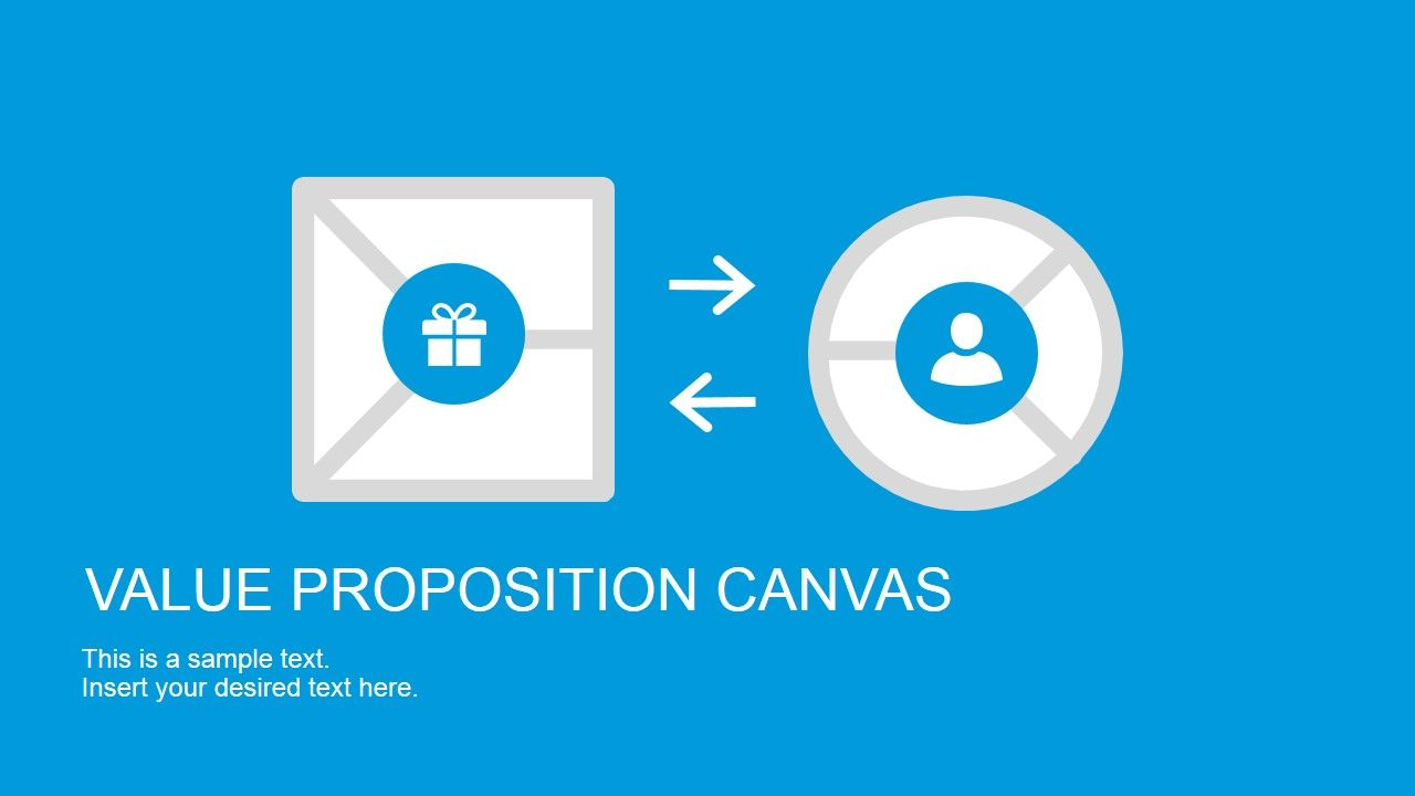 Flat Value Proposition Canvas Powerpoint Template Value