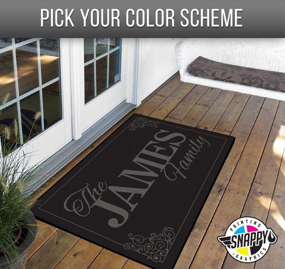 Personalized Doormat Custom Doormat 24 X 36 Etsy Door Mat Custom Doormat Personalized Door Mats