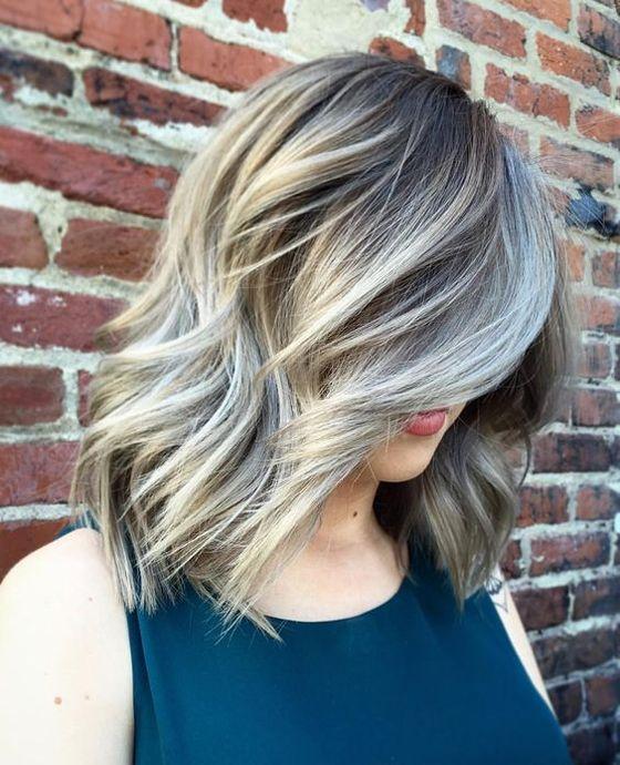 31 stunning grey looks for medium length hairstyles 2017