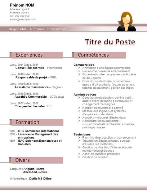 cv moderne assistante dentaire