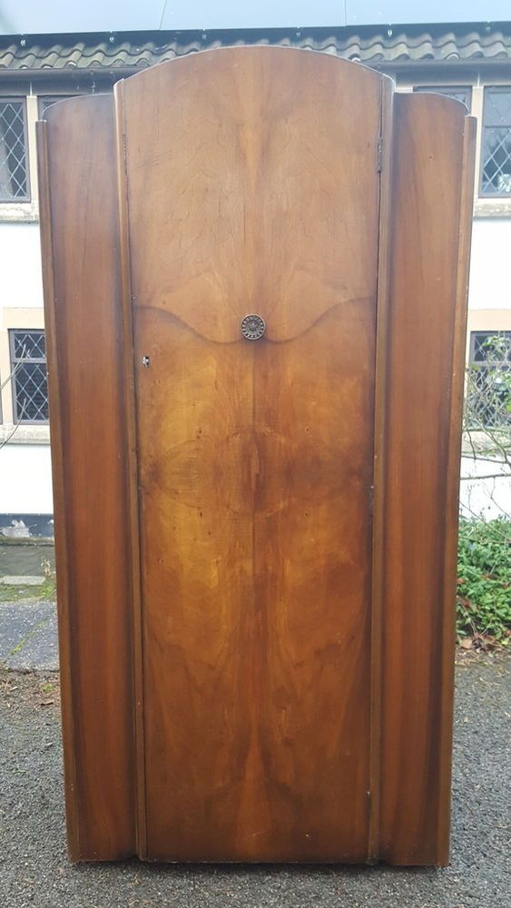 Lovely Shape And Style Some General Age X2f Wear And Fairly Light In Weight Makes A Lovely Bedroom Feature A Stylish 1950 39 S Art Deco Deco Walnut Veneer