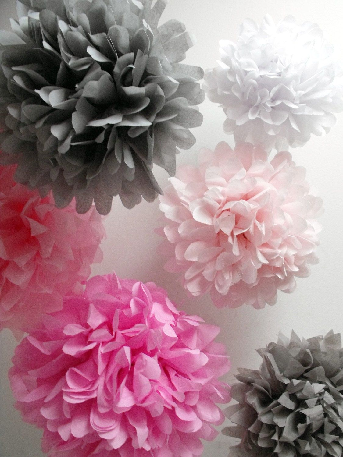Paper Flowers 6 Poms Diy Kit Paper Flowers Paper And Flower