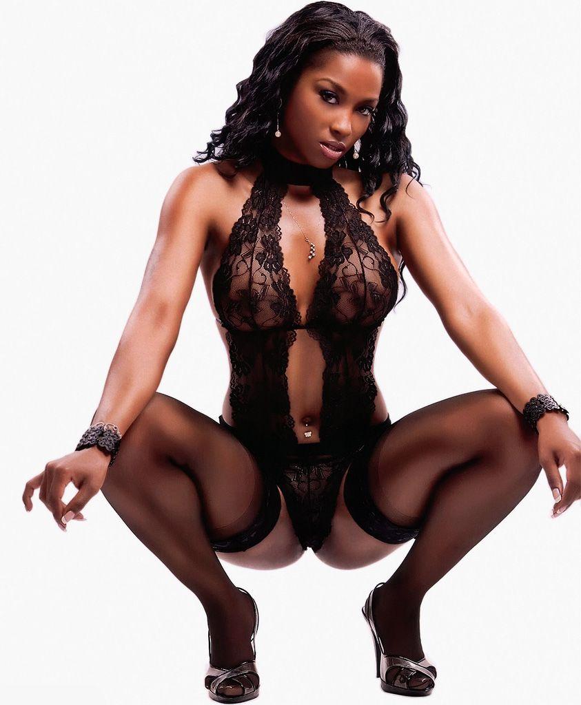 Black girls in stockings