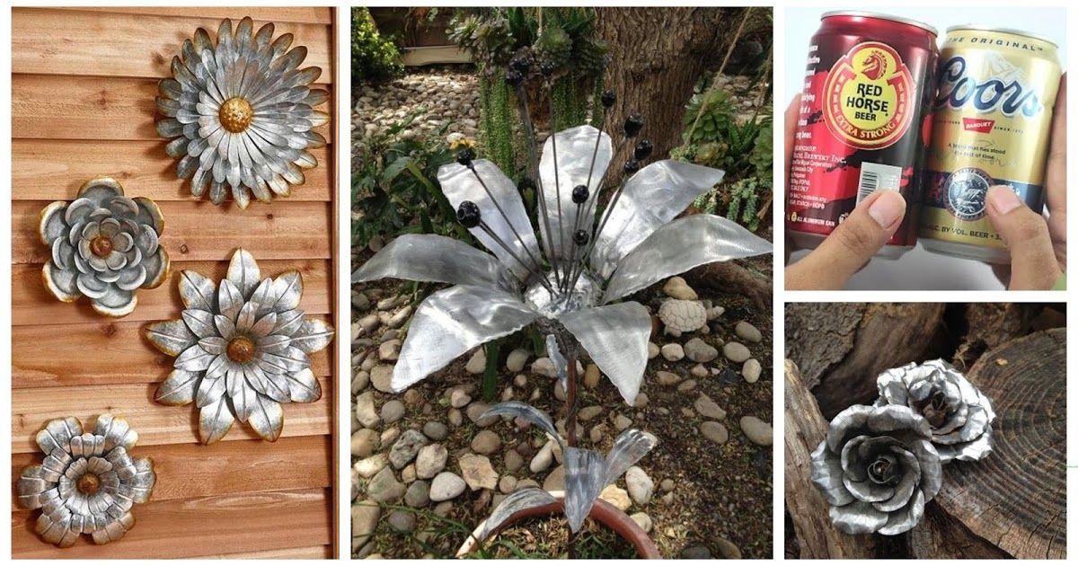 Te Ensenamos Como Hacer Flores Con Latas De Cerveza Reciclar Latas De Cerveza Flores De Latas De Aluminio Flores De Lata