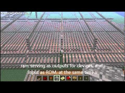 redgame, my first redstone computer with GPU, capable of simple games - YouTube