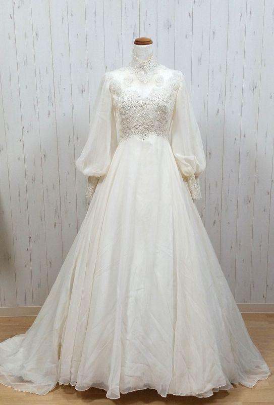 ヴィンテージウェディングドレス 262812381992 70s House of Bianchi #vintagedresses