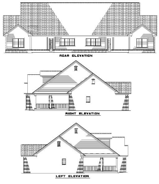 One-Story Style Multi-Family Plan 61229 with 4 Bed , 4