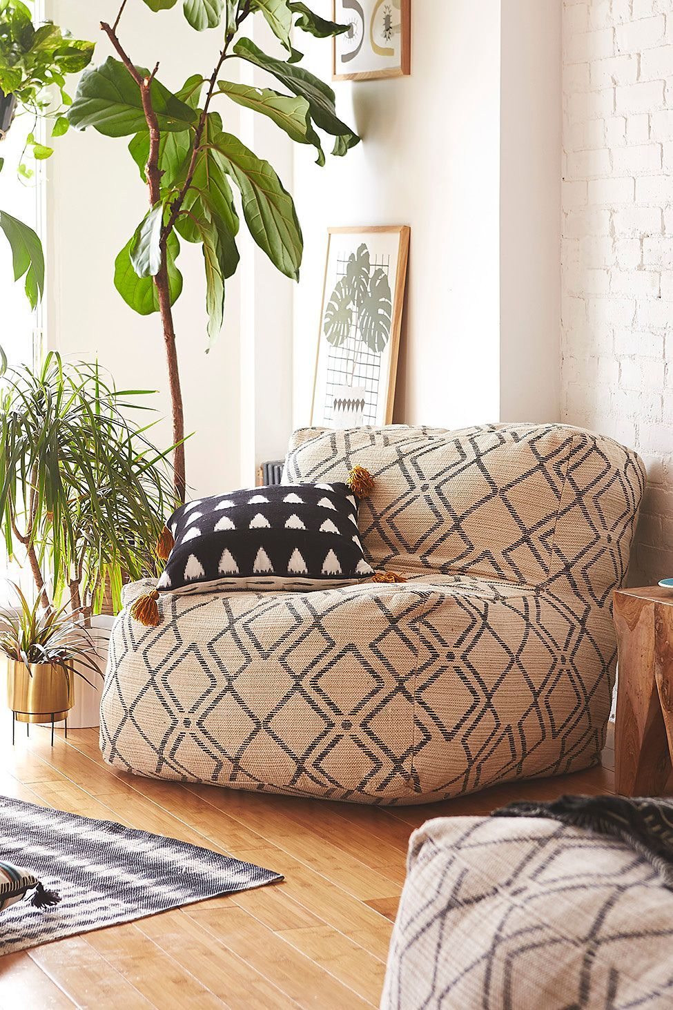 Bobo Patterned Lounge Chair Bean bag chair, Room decor
