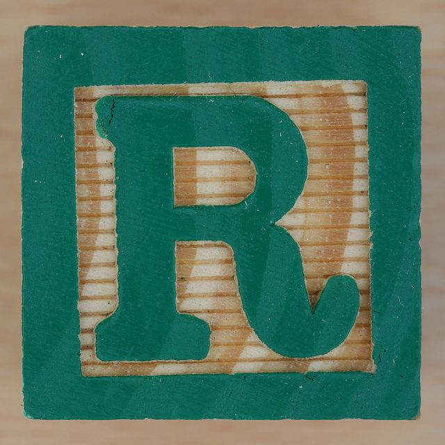 Wooden Brick Letter R  Bricks Wooden Block Letters And Clip Art