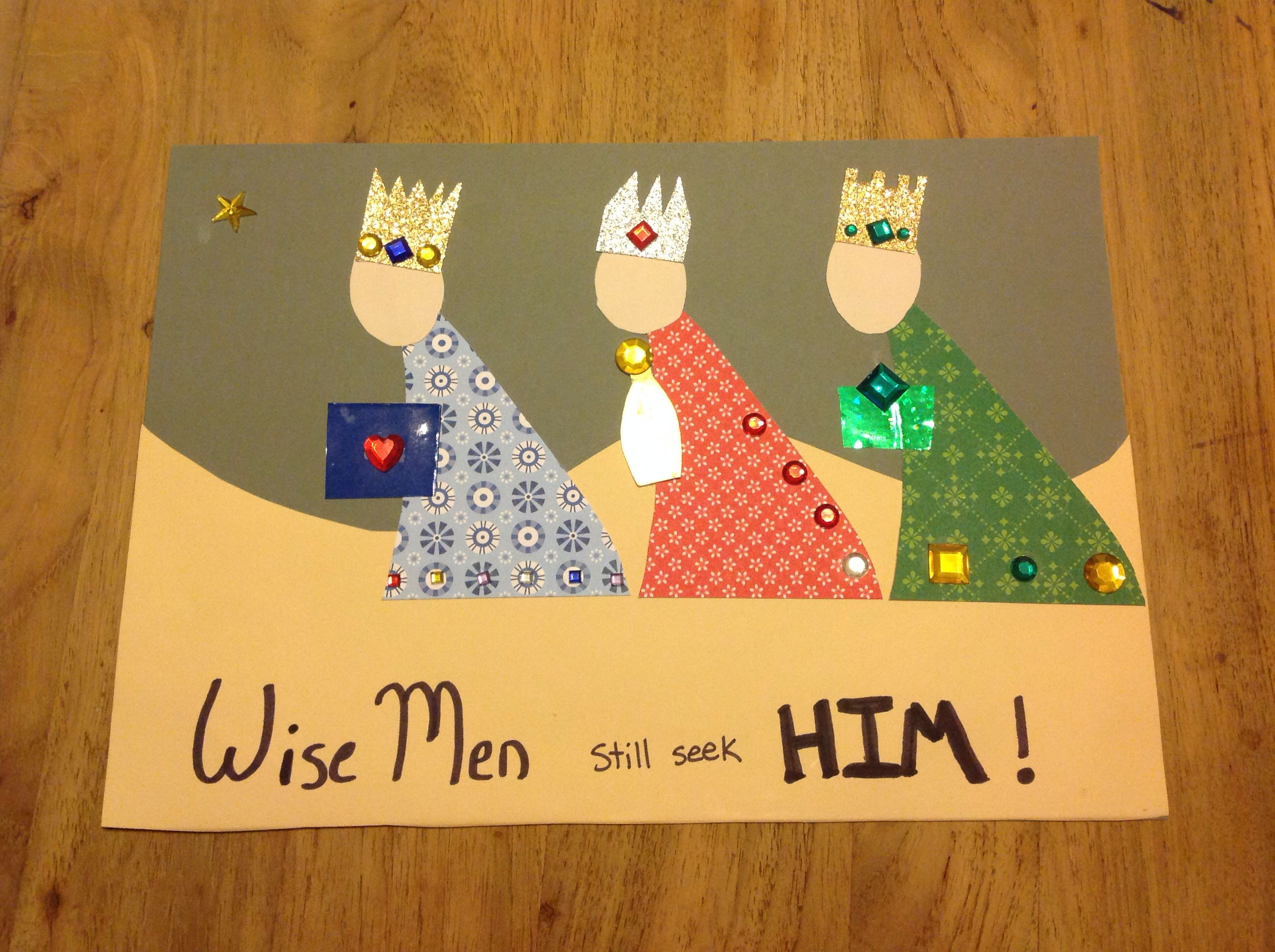 Wise men still seek him theme for this month kids church for Three wise men craft
