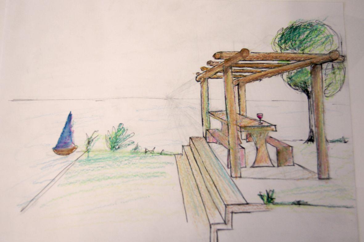 Zeichnen In Der Gartengestaltung Gartengestaltung Garten Planen Garten