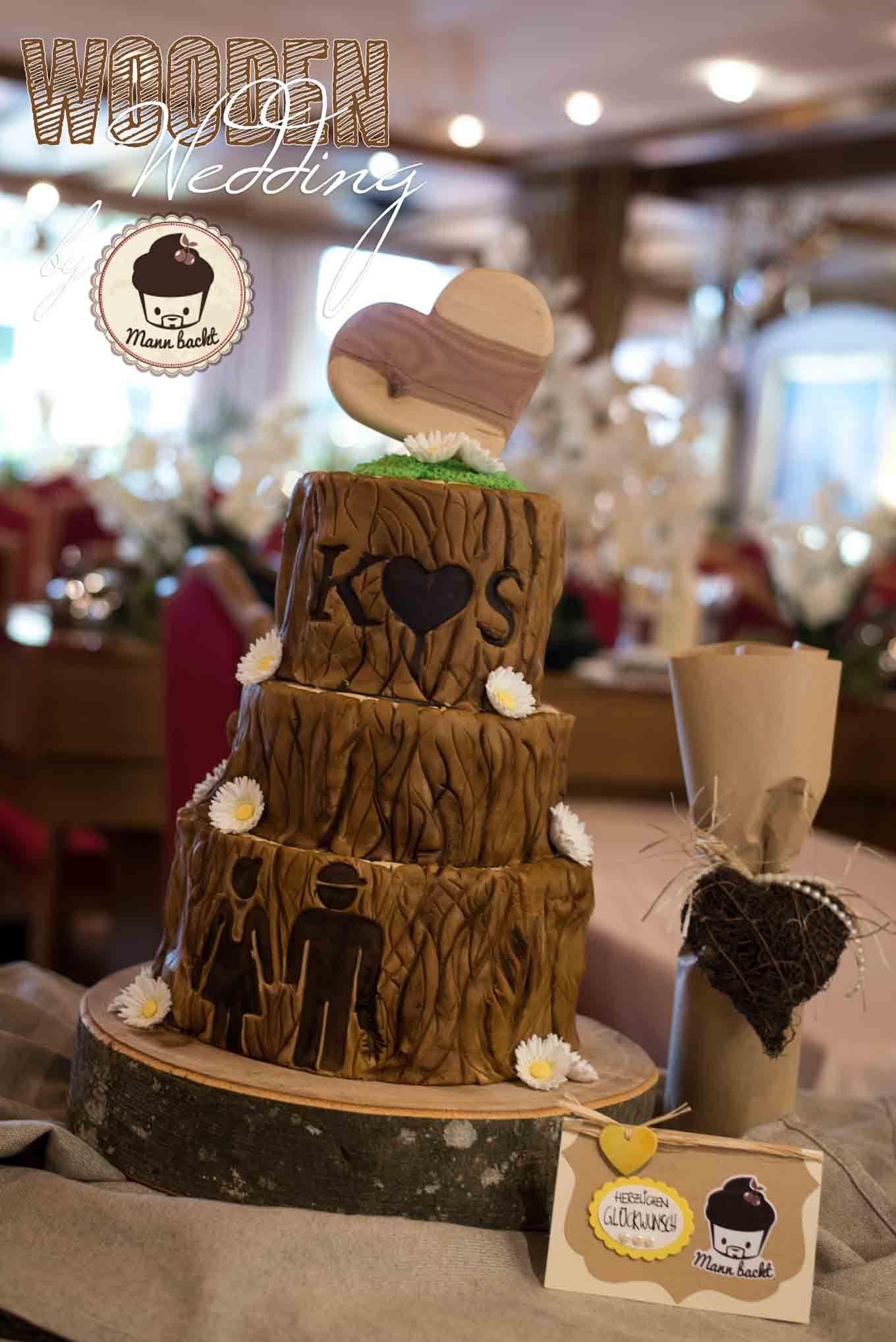 Eine Ganz Besondere Hochzeitstorte In Holzoptik Individuell Und