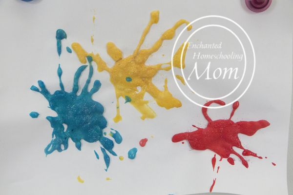 For the next Fourth of July enjoy creating this Puffy Fireworks art project with your child!