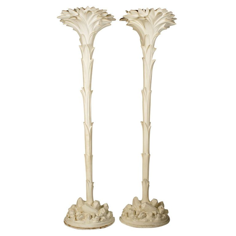 Plaster Palm Tree Torchieres After Serge Roche Palm Trees Floor Lamp Lighting Modern Floor Lamps