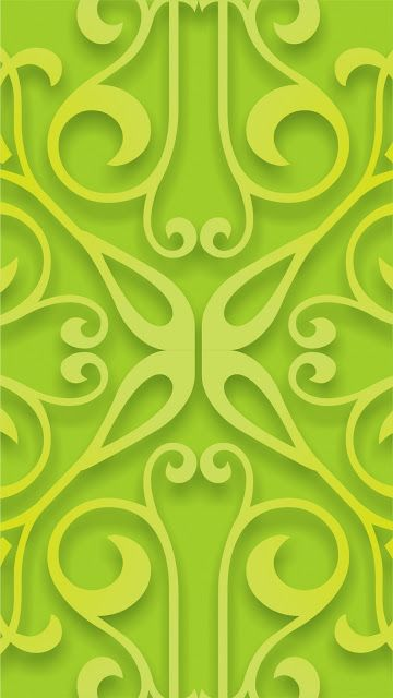 Elegant Green Pattern Mobile Wallpaper
