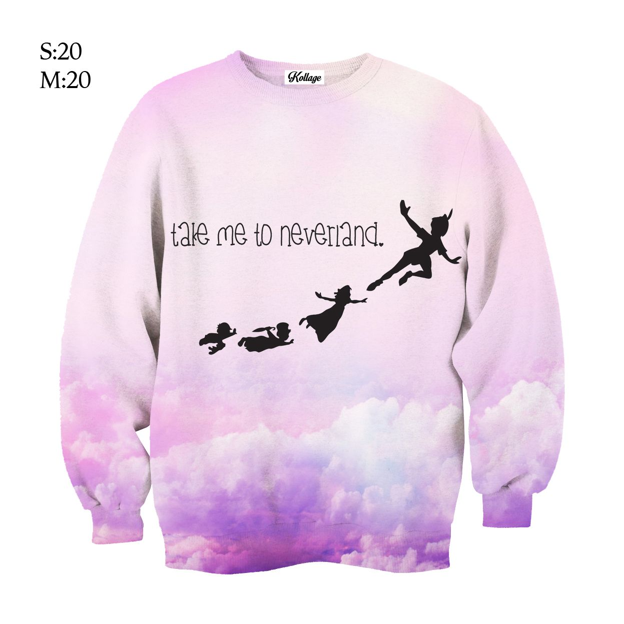 Take Me To Neverland Cute slogan Unisex Hoodie