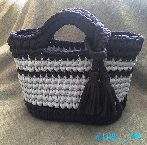 Pin von Niki Fafouti auf Bag | Pinterest | Körbchen, Textilgarn und ...