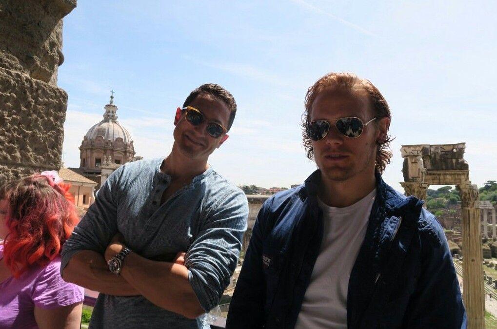 Sam Heughan sightseeing in Rom 26. Mai 2016