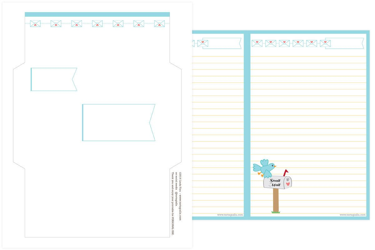 Snail Mail Letter Writing Stationery Set Printable  CreIve Mail