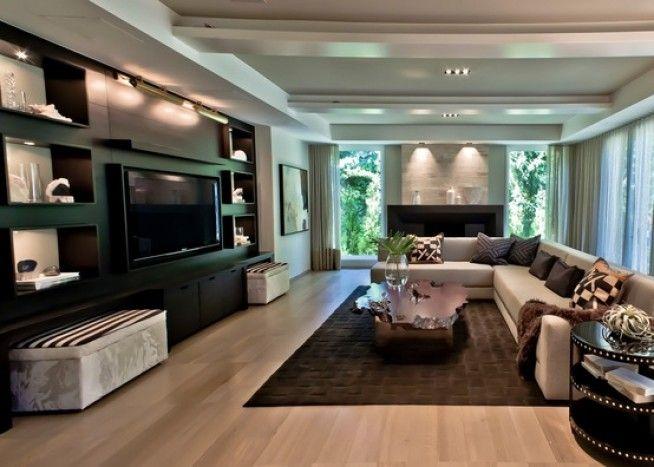Houzz Comteporary Living Room Family Room Design Home Interior