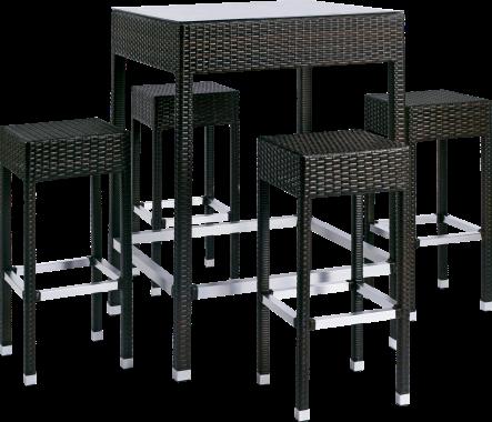 Ensemble bar de jardin design et tr s pratique alto qui - Ensemble table haute et tabouret ...