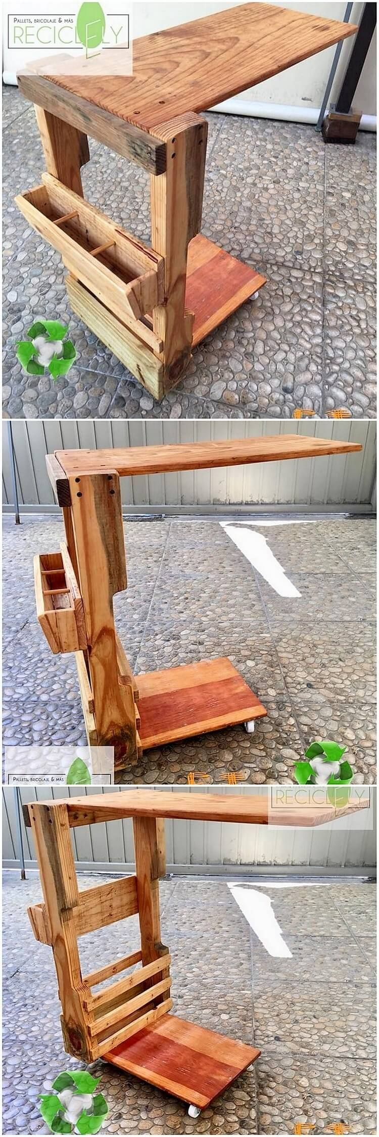 Classy Computer Tables To Go With Living Room Decor: Up-to-Date Wood Pallets Reshaping Ideas