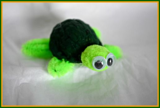 Easy Turtle Craft With Walnuts