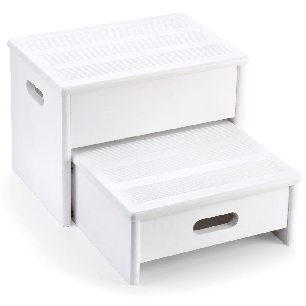 White Wooden Step Stool - Encourage hand washing, teeth ...