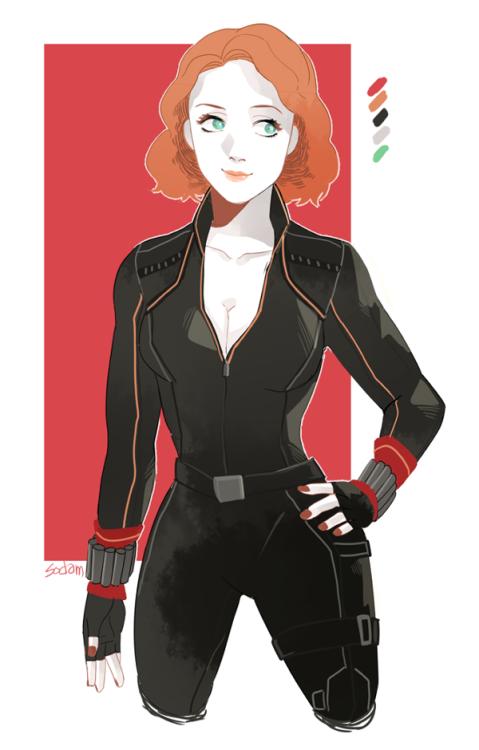 Black Widow limited palate fanart by sodamu1002