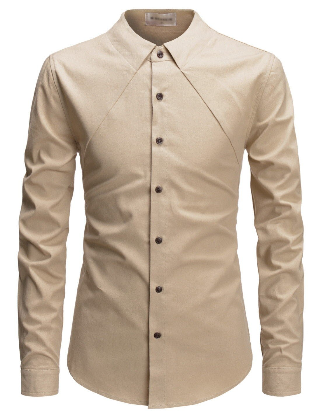 Menus modern fit ghost collar long sleeve button up my style