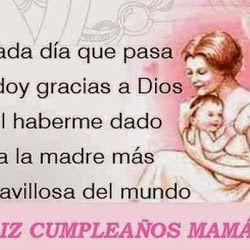 Feliz cumpleanos anos mama