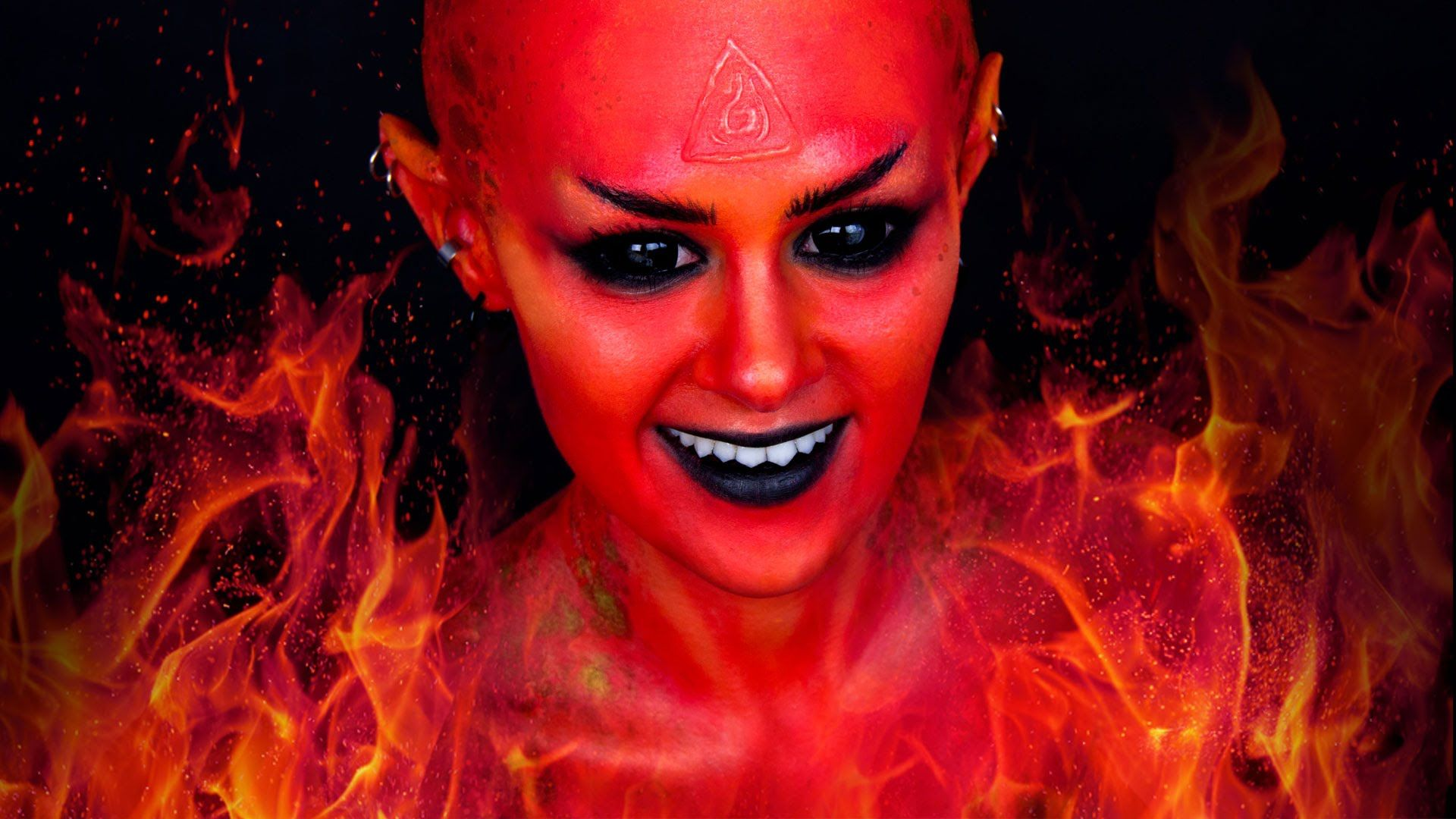 Fire fairy devildemon makeup tutorial life in color fire fairy devildemon makeup tutorial baditri Image collections