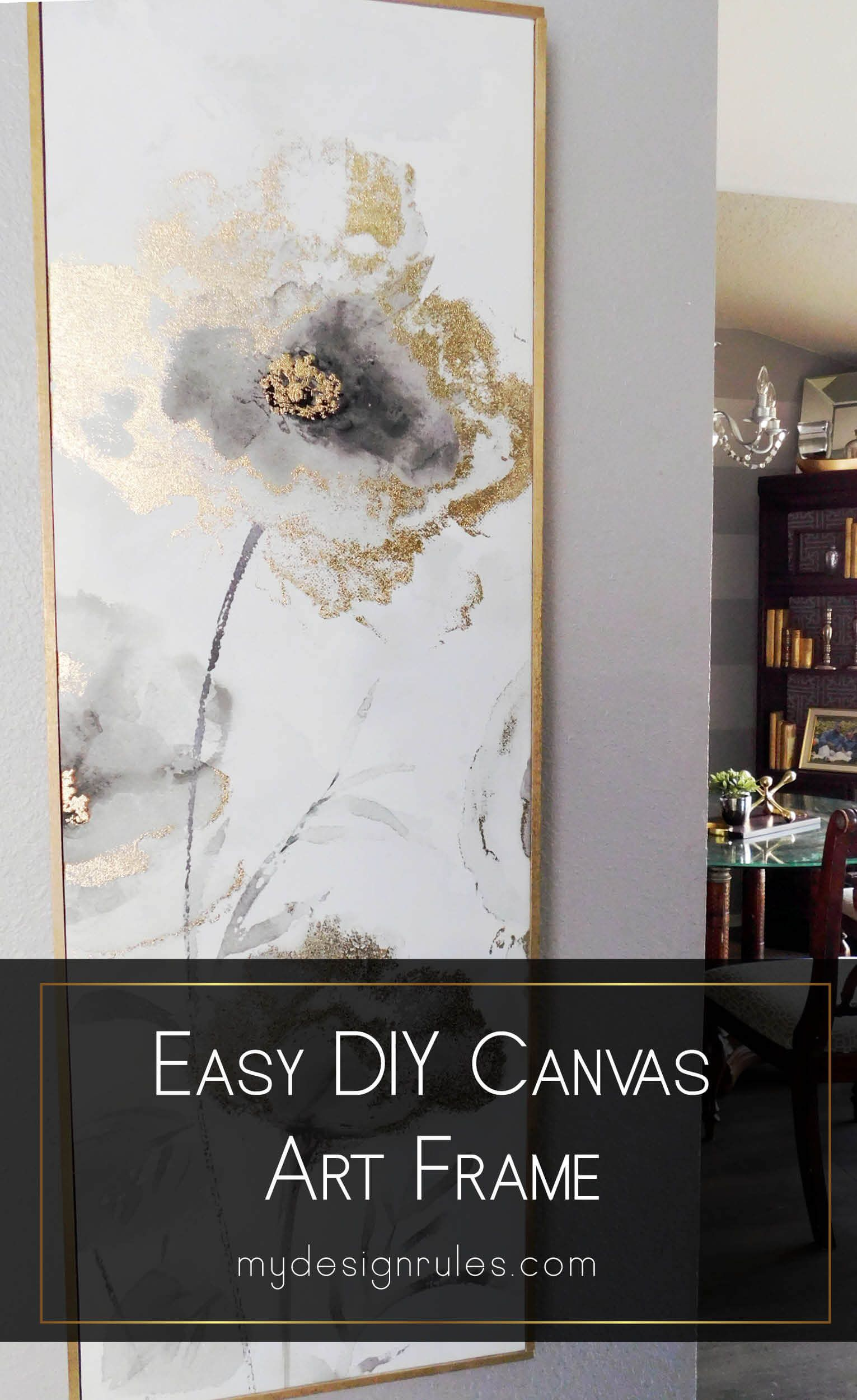Photo of Easy DIY Canvas Frame in an hour