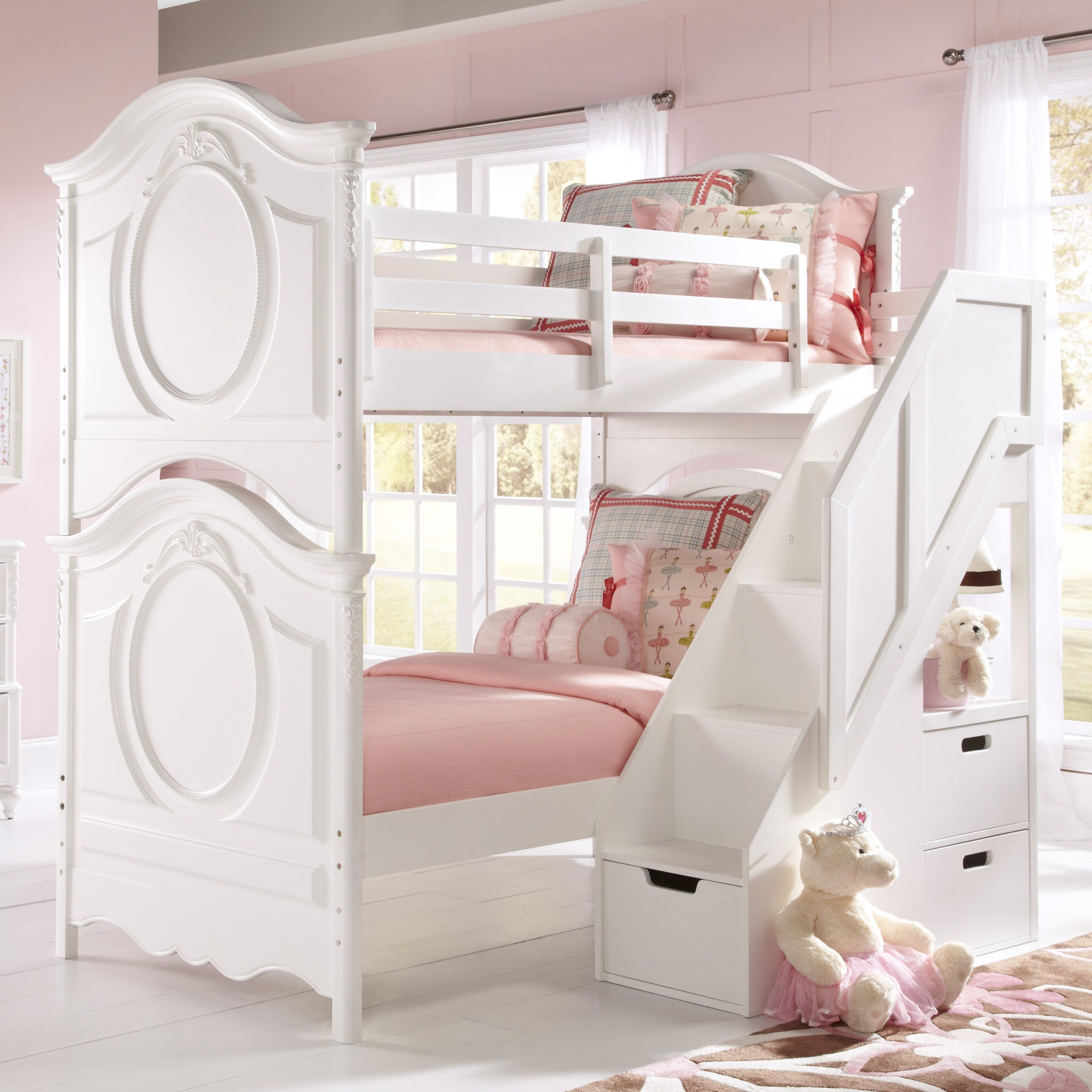 Have To Have It Sweetheart Twin Over Twin Bunk Bed White 989 95 Hayneedle With Images Cool Bunk Beds Bunk Bed Designs Bunk Beds With Stairs