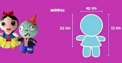 Las medidas de las Piñatas bolita ;)