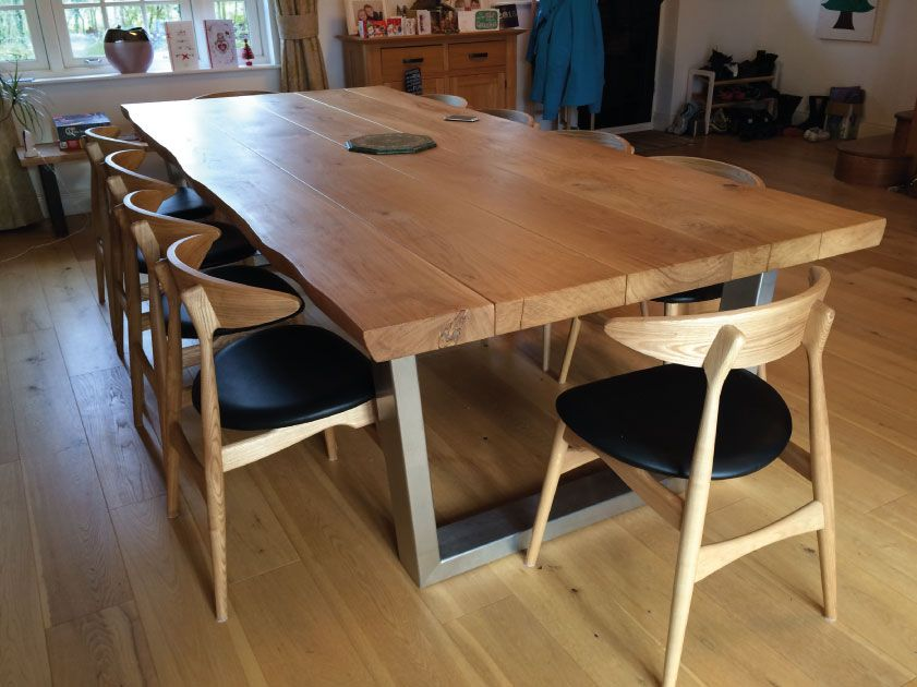 Large Oak Dining Table From Abacus Tables 12 Seater Komodo Large