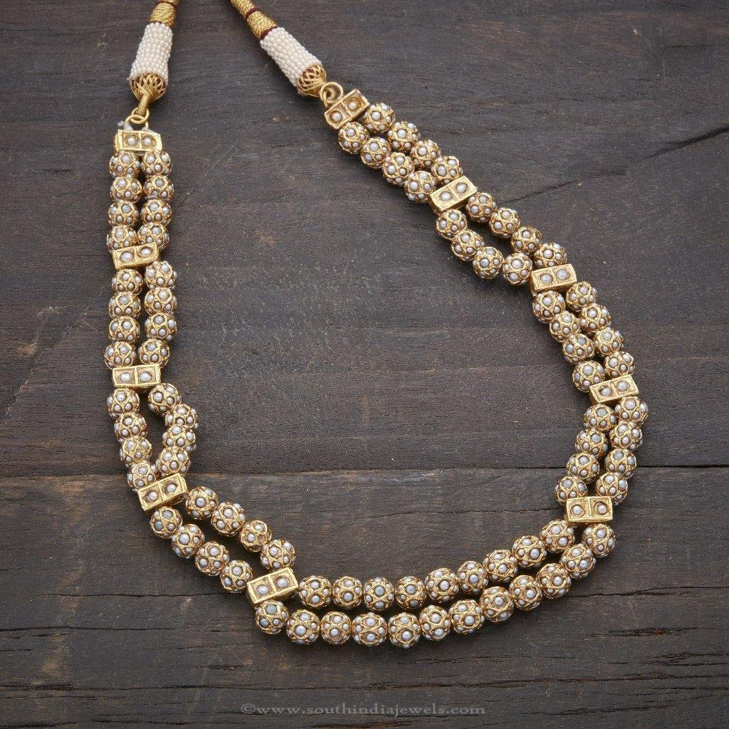 Designer Antique Pearl Necklace | Pearl necklace designs, Necklace ...