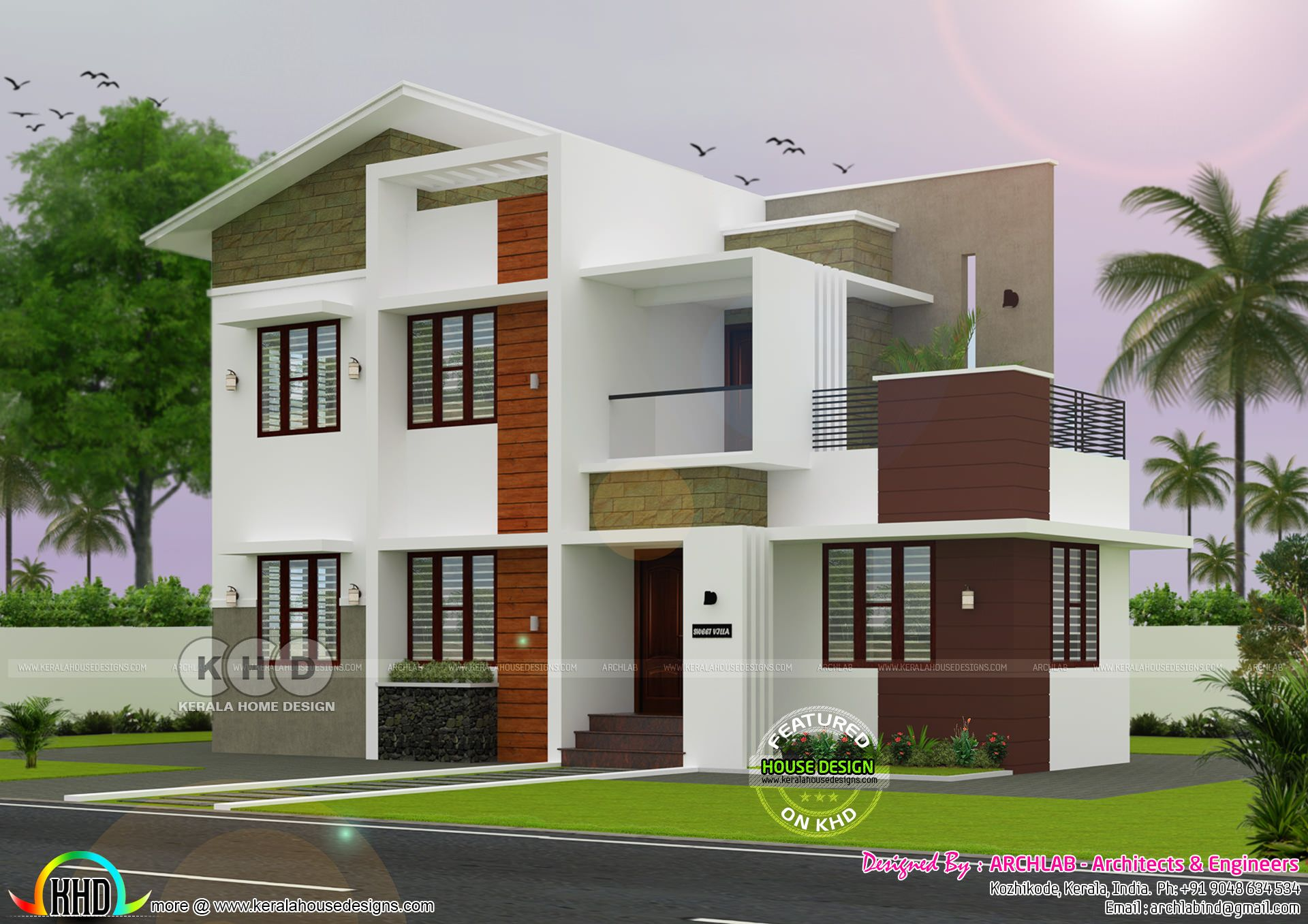 25 30 Lakhs Cost Estimated House Architecture Bungalow Design Duplex House Design Kerala House Design