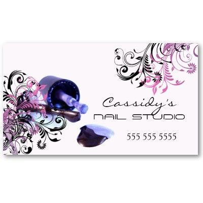 Nail technician beauty salon business cards nails pinterest nail technician beauty salon business cards accmission Gallery