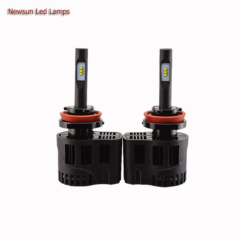 New Design 2x Plug Play H9 Led Headlight Kit 25w 3200lm 3000k 4000k 5000k 6000k Xenon Hid White Single Beam Bulb Replace Car Headlights Car Led Led Headlights
