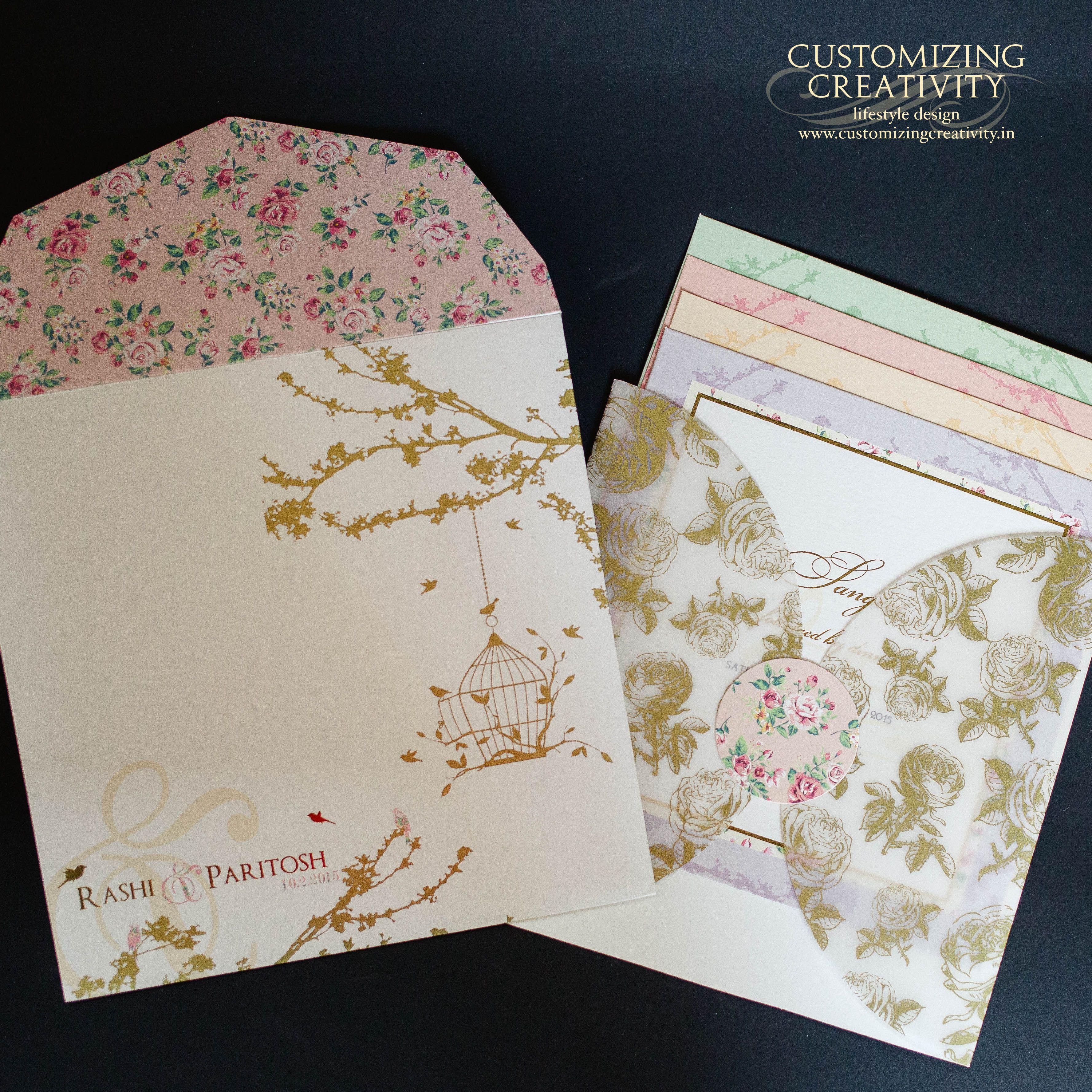 Wedding Invitation Cards Indian Invites Stationery Customized Invitations