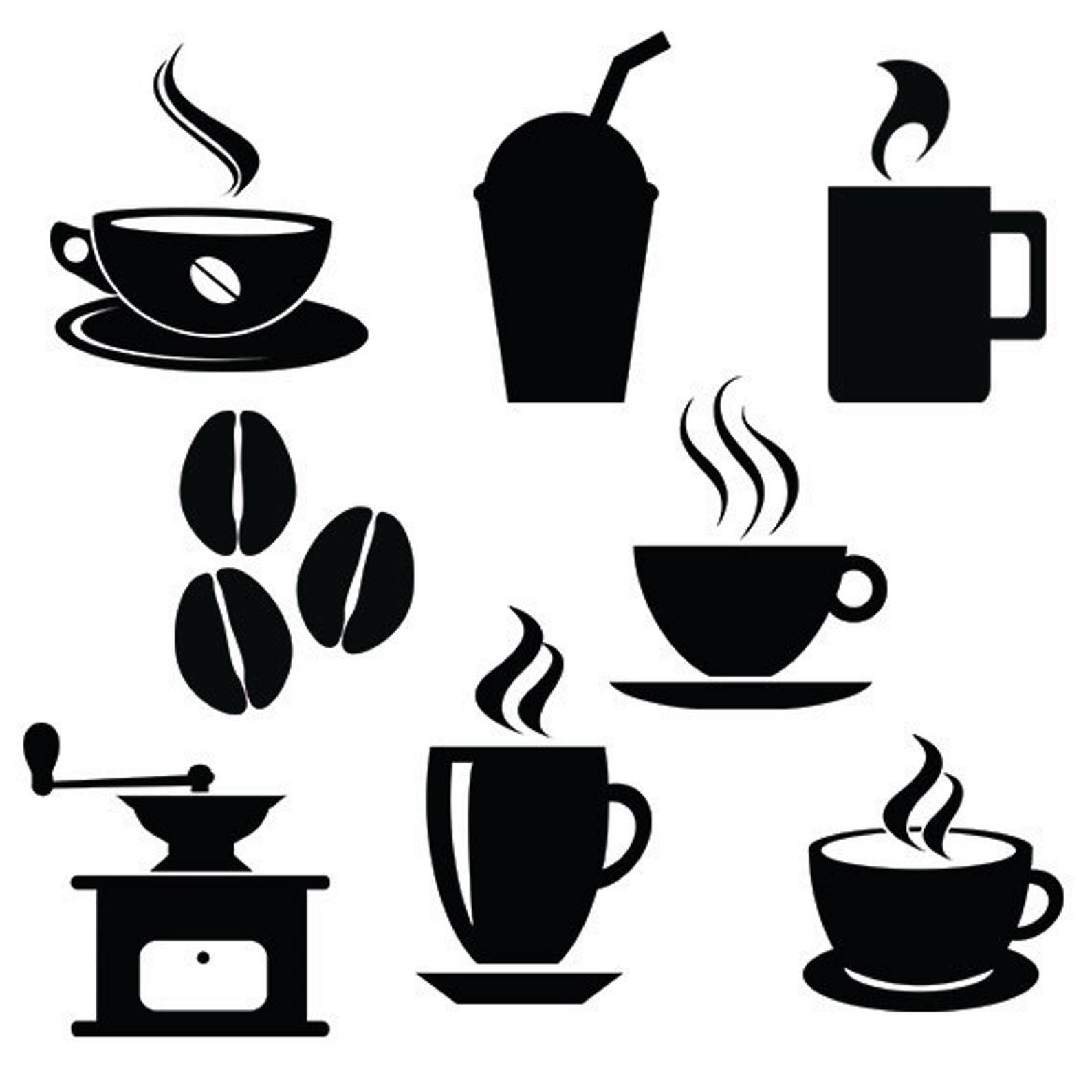 Coffee Svg Silhouette Files Pack Cafe Vector Clipart Digital Etsy Coffee Svg Coffee Shop Decor Coffee Cup Art