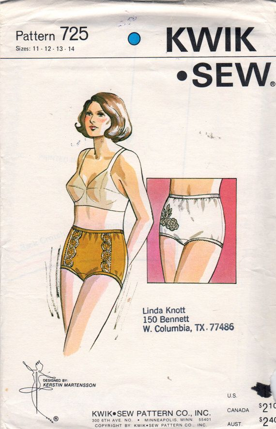 Kwik Sew 3594 Sizes 32 AA to 40 DDD Misses//Women/'s Classic Bra Sewing Pattern