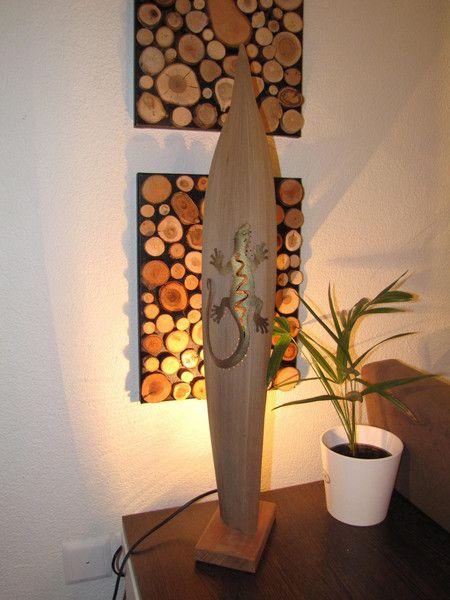 tischlampe aus kokosblatt von holz style auf holz style swiss pinterest. Black Bedroom Furniture Sets. Home Design Ideas