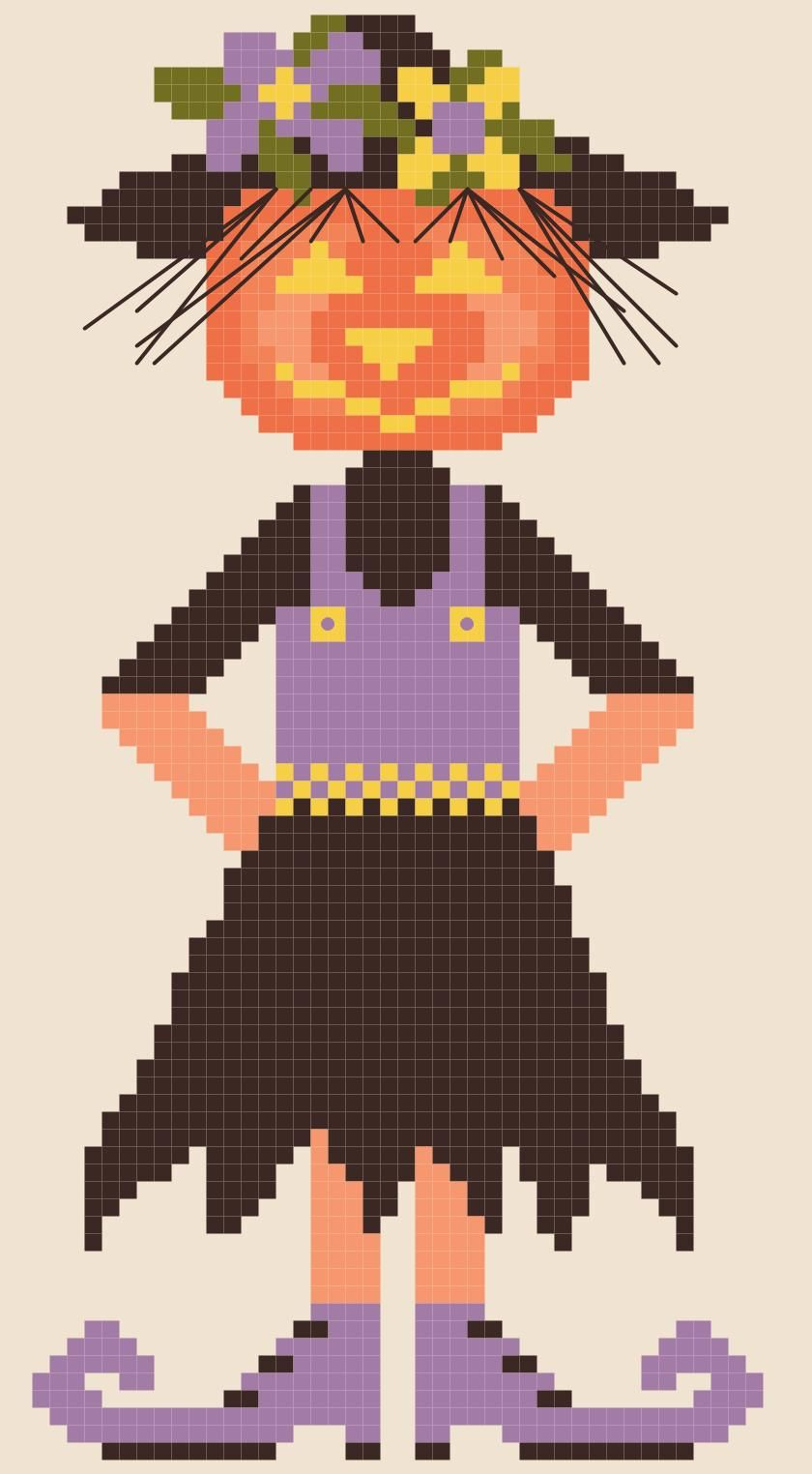 By The Bay Needleart: Second Annual Free Halloween Doll Chart